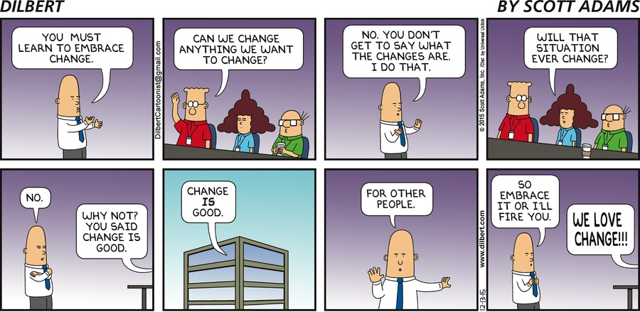 Ask Then Invite To Co Create Change as well Top Ten Dilbert Cartoons Lean also 831989 additionally Dilbert Goes Agile as well munication Failure. on dilbert inventory cartoon